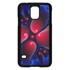 Color Fractal Pattern Samsung Galaxy S5 Case (black) by Nexatart