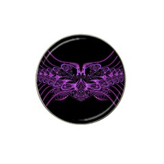 Beautiful Pink Lovely Image In Pink On Black Hat Clip Ball Marker (10 Pack)