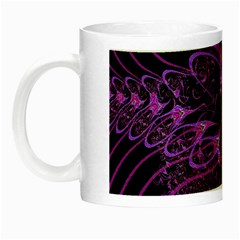 Beautiful Pink Lovely Image In Pink On Black Night Luminous Mugs by Nexatart
