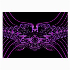 Beautiful Pink Lovely Image In Pink On Black Large Glasses Cloth by Nexatart