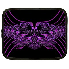 Beautiful Pink Lovely Image In Pink On Black Netbook Case (large) by Nexatart