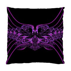 Beautiful Pink Lovely Image In Pink On Black Standard Cushion Case (two Sides)