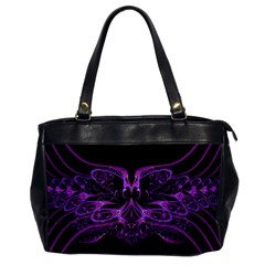 Beautiful Pink Lovely Image In Pink On Black Office Handbags by Nexatart