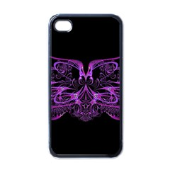 Beautiful Pink Lovely Image In Pink On Black Apple Iphone 4 Case (black) by Nexatart