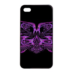 Beautiful Pink Lovely Image In Pink On Black Apple Iphone 4/4s Seamless Case (black) by Nexatart