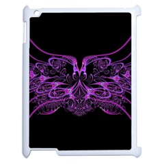 Beautiful Pink Lovely Image In Pink On Black Apple Ipad 2 Case (white) by Nexatart