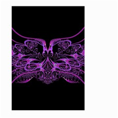Beautiful Pink Lovely Image In Pink On Black Large Garden Flag (two Sides)