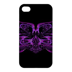 Beautiful Pink Lovely Image In Pink On Black Apple Iphone 4/4s Premium Hardshell Case by Nexatart
