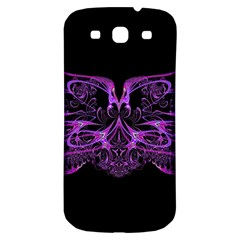 Beautiful Pink Lovely Image In Pink On Black Samsung Galaxy S3 S Iii Classic Hardshell Back Case by Nexatart
