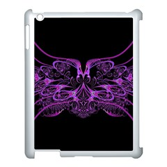 Beautiful Pink Lovely Image In Pink On Black Apple Ipad 3/4 Case (white) by Nexatart