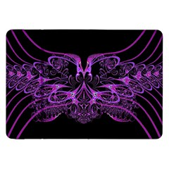 Beautiful Pink Lovely Image In Pink On Black Samsung Galaxy Tab 8 9  P7300 Flip Case by Nexatart