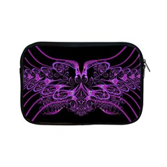 Beautiful Pink Lovely Image In Pink On Black Apple Ipad Mini Zipper Cases