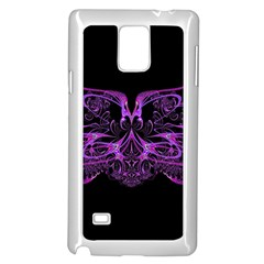 Beautiful Pink Lovely Image In Pink On Black Samsung Galaxy Note 4 Case (white)