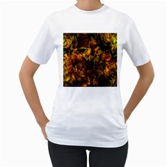 Autumn Colors In An Abstract Seamless Background Women s T Shirt (white) (two Sided)