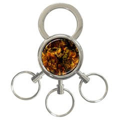 Autumn Colors In An Abstract Seamless Background 3 Ring Key Chains by Nexatart