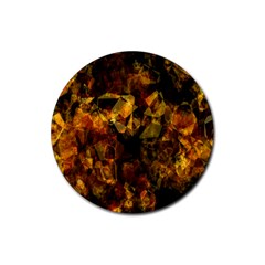 Autumn Colors In An Abstract Seamless Background Rubber Round Coaster (4 Pack)  by Nexatart
