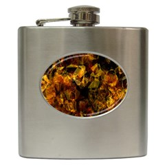 Autumn Colors In An Abstract Seamless Background Hip Flask (6 Oz) by Nexatart