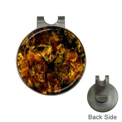 Autumn Colors In An Abstract Seamless Background Hat Clips With Golf Markers