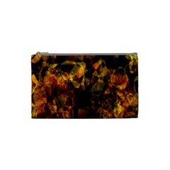 Autumn Colors In An Abstract Seamless Background Cosmetic Bag (small)  by Nexatart