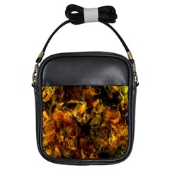 Autumn Colors In An Abstract Seamless Background Girls Sling Bags