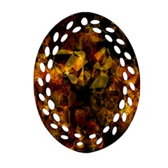 Autumn Colors In An Abstract Seamless Background Oval Filigree Ornament (two Sides) by Nexatart