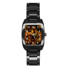 Autumn Colors In An Abstract Seamless Background Stainless Steel Barrel Watch by Nexatart