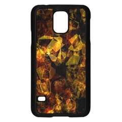 Autumn Colors In An Abstract Seamless Background Samsung Galaxy S5 Case (black)