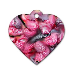Raspberry Delight Dog Tag Heart (two Sides)