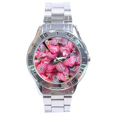 Raspberry Delight Stainless Steel Analogue Watch by Nexatart