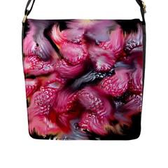 Raspberry Delight Flap Messenger Bag (l)