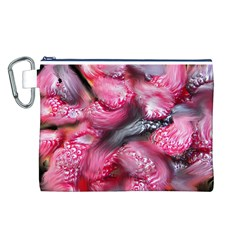 Raspberry Delight Canvas Cosmetic Bag (l) by Nexatart