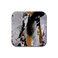 Abstract Graffiti Background Rubber Square Coaster (4 Pack)  by Nexatart