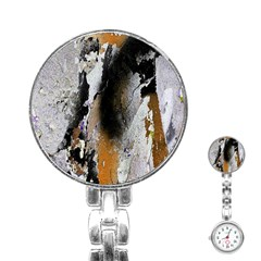 Abstract Graffiti Background Stainless Steel Nurses Watch