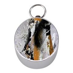 Abstract Graffiti Background Mini Silver Compasses