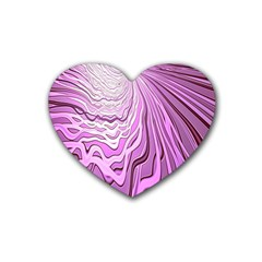 Light Pattern Abstract Background Wallpaper Rubber Coaster (heart)