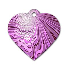 Light Pattern Abstract Background Wallpaper Dog Tag Heart (two Sides)