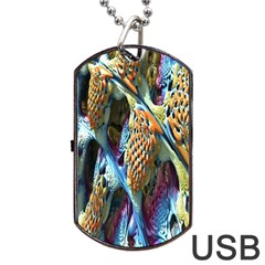 Background, Wallpaper, Texture Dog Tag Usb Flash (one Side) by Nexatart