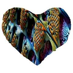 Background, Wallpaper, Texture Large 19  Premium Heart Shape Cushions by Nexatart