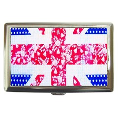 British Flag Abstract British Union Jack Flag In Abstract Design With Flowers Cigarette Money Cases by Nexatart