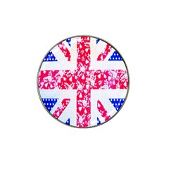 British Flag Abstract British Union Jack Flag In Abstract Design With Flowers Hat Clip Ball Marker (10 Pack) by Nexatart