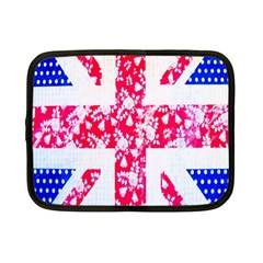 British Flag Abstract British Union Jack Flag In Abstract Design With Flowers Netbook Case (small)  by Nexatart