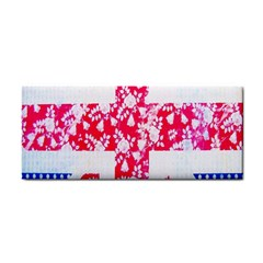 British Flag Abstract British Union Jack Flag In Abstract Design With Flowers Cosmetic Storage Cases by Nexatart