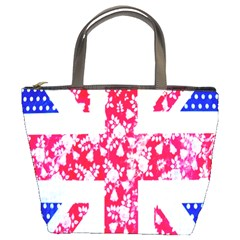 British Flag Abstract British Union Jack Flag In Abstract Design With Flowers Bucket Bags by Nexatart