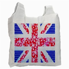 British Flag Abstract British Union Jack Flag In Abstract Design With Flowers Recycle Bag (two Side)  by Nexatart