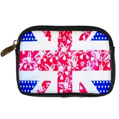 British Flag Abstract British Union Jack Flag In Abstract Design With Flowers Digital Camera Cases by Nexatart
