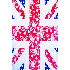 British Flag Abstract British Union Jack Flag In Abstract Design With Flowers 5 5  X 8 5  Notebooks by Nexatart