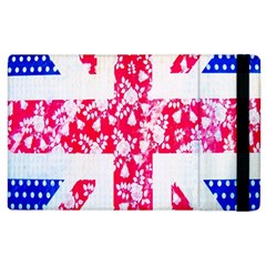 British Flag Abstract British Union Jack Flag In Abstract Design With Flowers Apple iPad 3/4 Flip Case by Nexatart