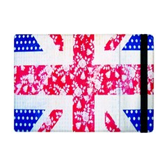 British Flag Abstract British Union Jack Flag In Abstract Design With Flowers Apple Ipad Mini Flip Case by Nexatart