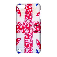 British Flag Abstract British Union Jack Flag In Abstract Design With Flowers Apple Ipod Touch 5 Hardshell Case With Stand by Nexatart