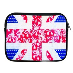 British Flag Abstract British Union Jack Flag In Abstract Design With Flowers Apple Ipad 2/3/4 Zipper Cases